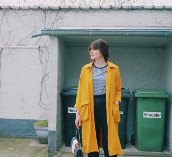 Outfit // Boss Luxury staple c bag + yellow Monki coat + embroidered t-shirt
