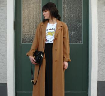 Outfit // vintage Yves Saint Laurent coat + Monki pants + Céline vintage box bag