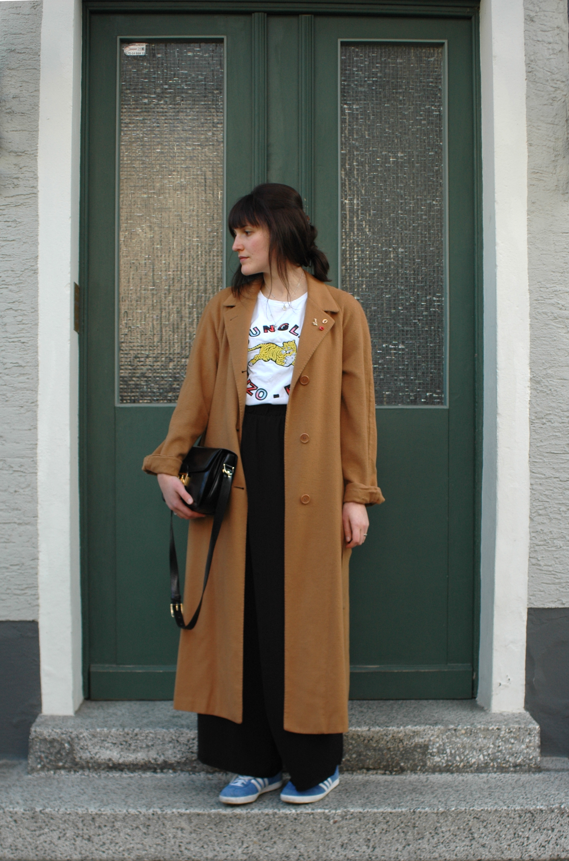 Outfit // vintage Yves Saint Laurent coat + Monki pants + Céline vintage box bag