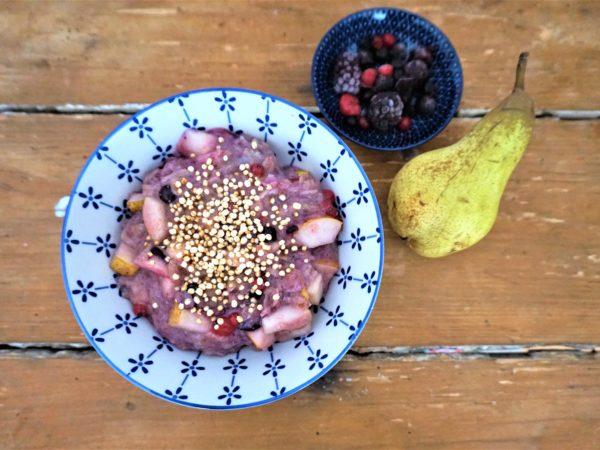 Porridge vegan, porridge mit früchten