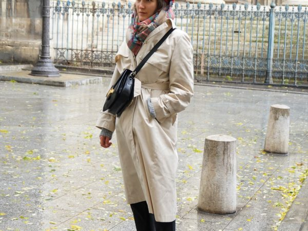 Trenchcoat-Beret -Céline vintage Box Bag