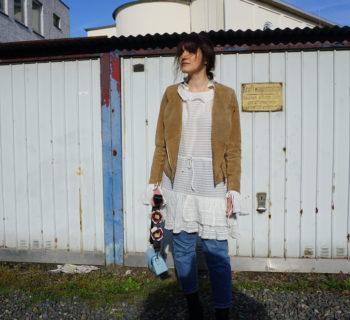 Outfit // H&M studio cotton dress + Closed Pedal Pusher + Zara crossbody bag